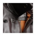 Alpha Industries Leather A-2 Zipper & Collar Snap