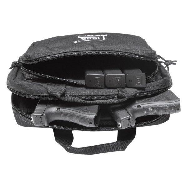 Glock Double Pistol Case Black Top View